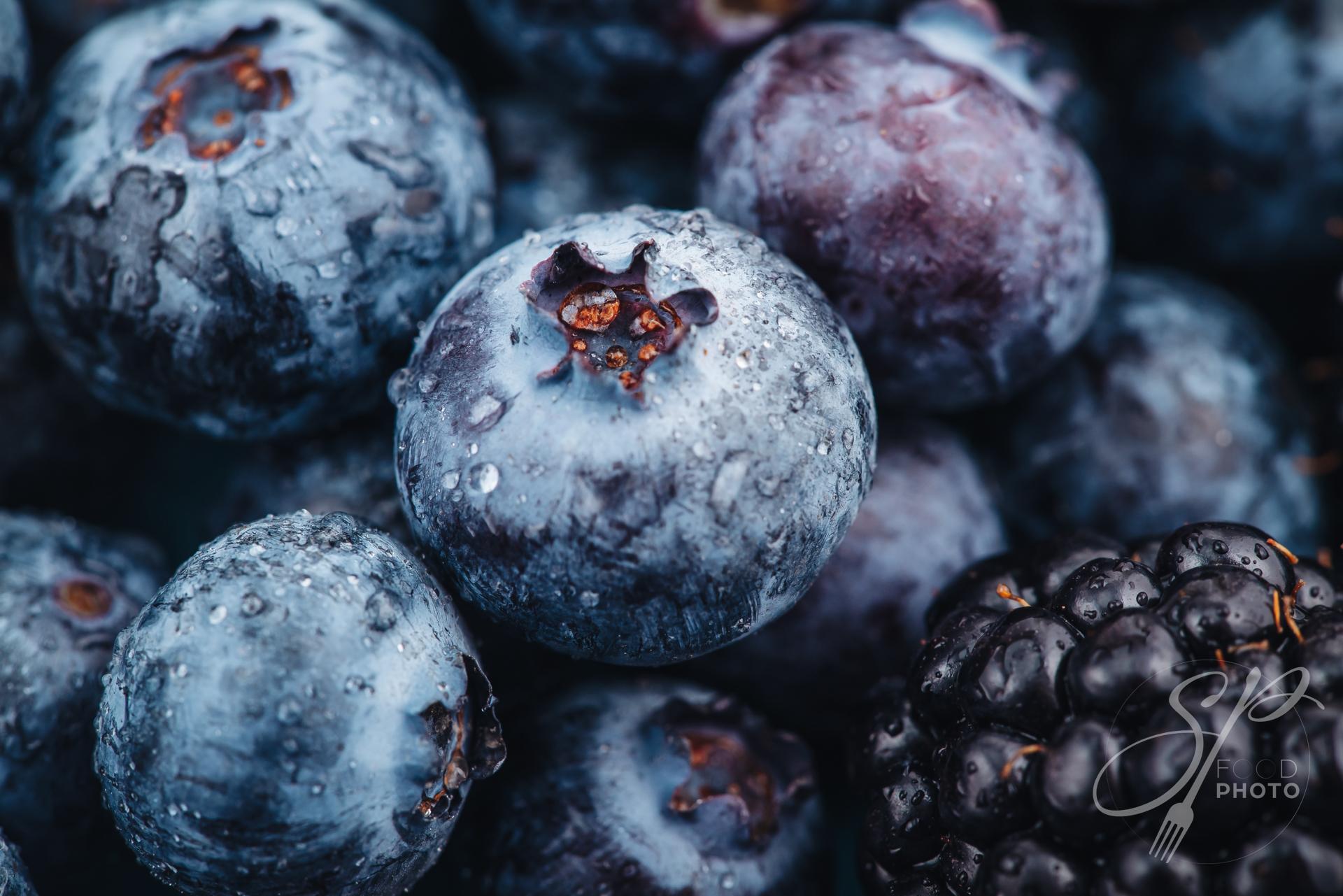 Beautiful macro of a fresh blueberry