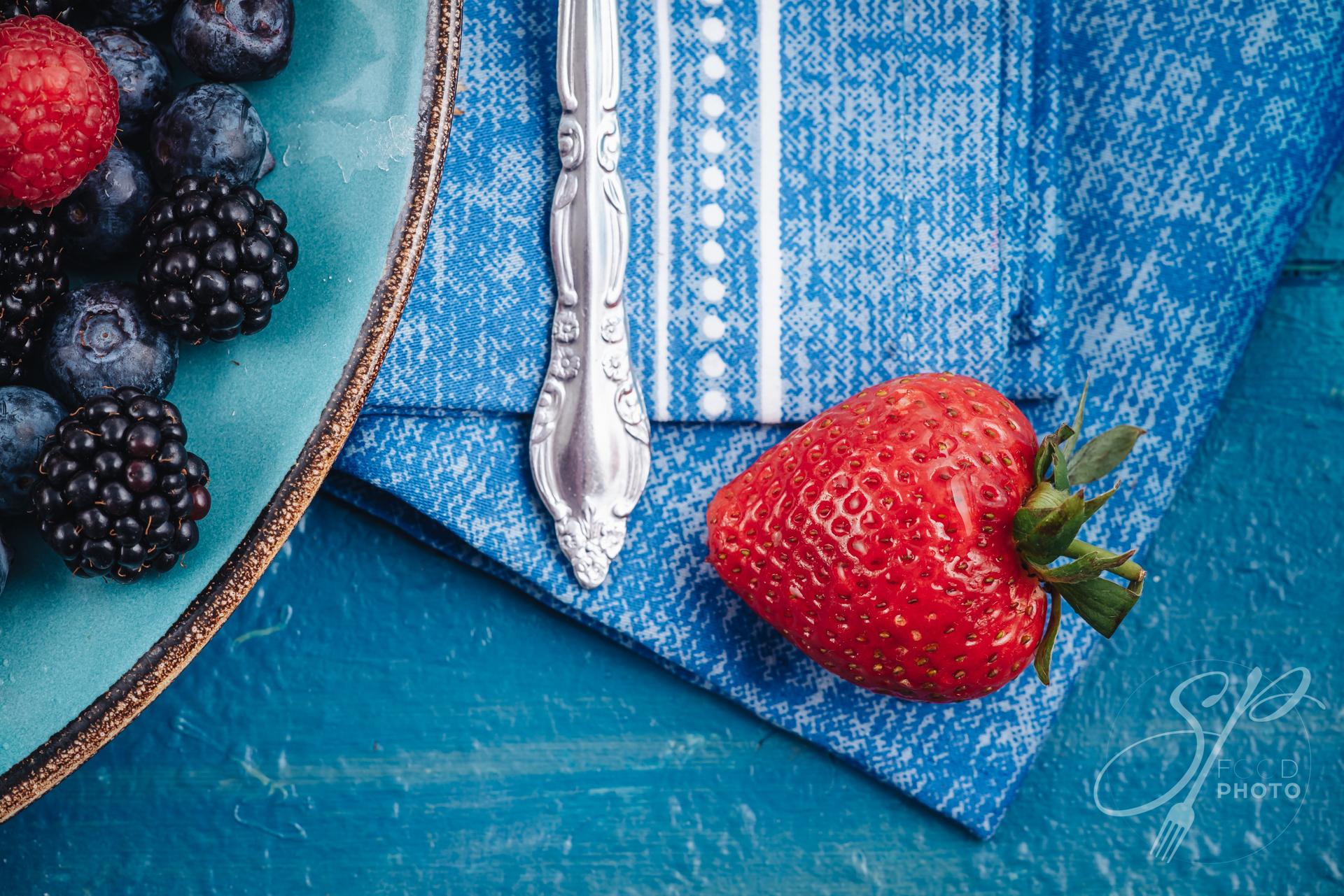 Beautiful macro of a fresh strawberry