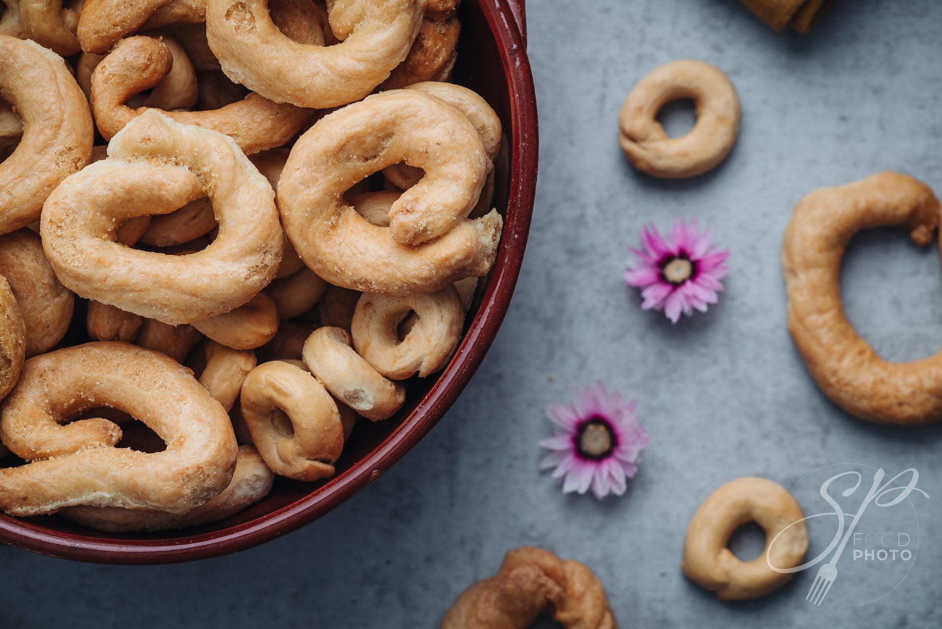 Crunchy traditional taralli snacks from Puglia