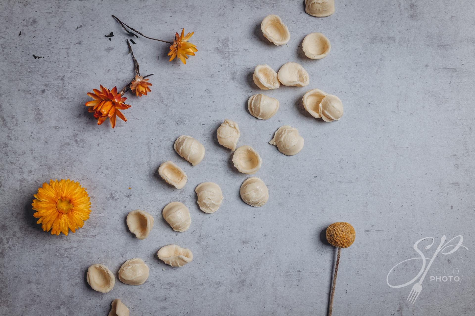 hand made apulian orecchiette shaped pasta
