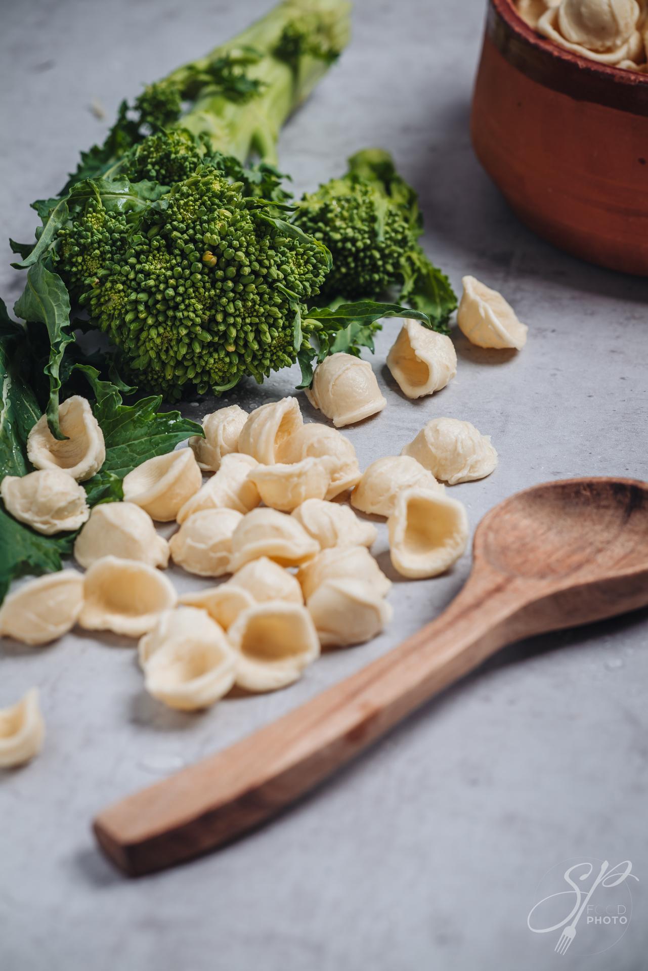 Orecchiette pasta with turnip tops
