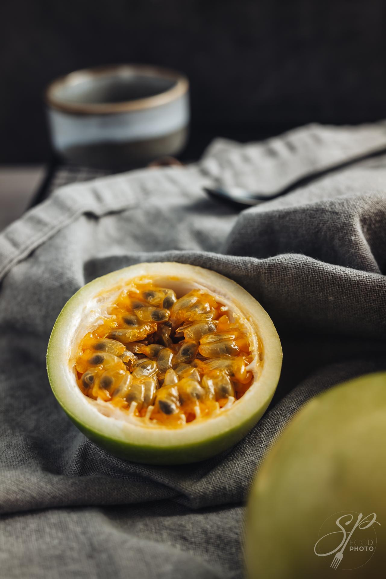 Fresh and juicy raw maracuja fruit